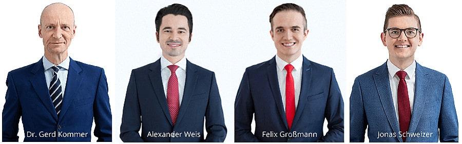 Gerd Kommer Capital - das Management Team